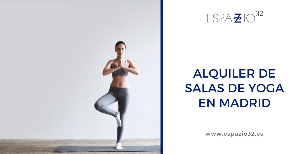 Alquiler salas de yoga en Madrid