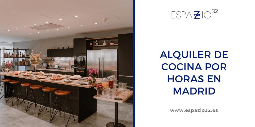 Alquiler de cocina por horas en Madrid